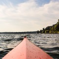 A view of the South Point of Mercer Island.- Mercer Island Sea Kayaking Loop