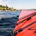 Floating off the eastern shore of Mercer Island.- Mercer Island Sea Kayaking Loop