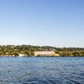Looking east at the Seattle Seahawks traning facility.- Mercer Island Sea Kayaking Loop