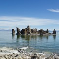 Tufa only forms under water. These pillars were revealed as lake levels dropped.- South Tufa to Navy Beach