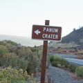 Panum Crater lies just off Highway 120.- Panum Crater Plug Trail