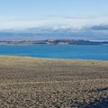 Negit and Paoha Islands seen from Panum Crater.- Mono Lake Tufa State Natural Reserve