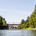 Looking west down the Montlake Cut. - Lake Washington Ship Canal Sea Kayaking