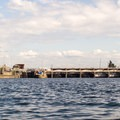 Approaching the west entrace to the locks.- Lake Washington Ship Canal Sea Kayaking