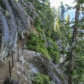 The northern half of the Rubicon Trail lies within D.L. Bliss State Park.- D.L. Bliss State Park