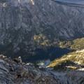Looking north across Farley Lake to Imogene Peak.- Farley Lake