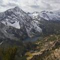 A view south across Farley Lake to Parks Peak.- Farley Lake
