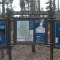 Trailhead kiosk at the Tin Cup Hikers Trailhead.- Farley Lake