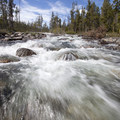 Yellow Belly Creek in full June cascade.- Yellow Belly Lake