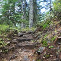 Inclines on the trail to Red Pass.- Commonwealth Basin Trail to Red Pass