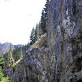 Rock formations along the Commonwealth Basin Trail.- Commonwealth Basin Trail to Red Pass