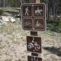 The trail is open to a wide variety of uses.- Elk Meadow + Elizabeth Lake