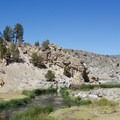Hot Creek is known for amazing trout fishing.- Hot Creek Geological Site