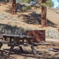 Big Springs Campground is equipped with bear boxes.- Big Springs Campground