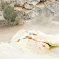 Travertine is a form of limestone built up from minerals in spring water.- Travertine Hot Springs