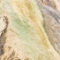 Algae coats the limestone formations at Travertine Hot Springs.- Travertine Hot Springs