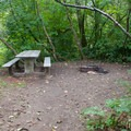Typical campsite at Wallace Falls Campground.- Wallace Falls Campground