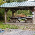 Picnic shelter.- Wallace Falls Campground