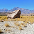Sporadic Boulders in the valley.- Upper Owens River and Pleasant Valley Reservoir