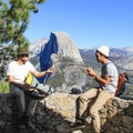 Not bad for a lunch spot.- Four Mile Trail to Glacier Point