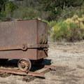 Ore cart at Almaden Quicksilver County Park.- Almaden Quicksilver County Park Historic Trail