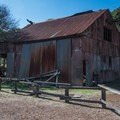 A barn found at the English Camp in Almaden Quicksilver County Park.- Almaden Quicksilver County Park Historic Trail