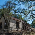 Mine office and map house at Almaden Quicksilver County Park.- Almaden Quicksilver County Park Historic Trail
