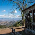A run-down house with an amazing view on the Hidalgo Cemetary Trail.- Almaden Quicksilver County Park Historic Trail