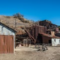 The Rotary Furnace, the sixth stop on the Historic Trail in Almaden Quicksilver County Park.- Almaden Quicksilver County Park Historic Trail