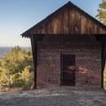 The Powder House stored explosives at Almaden Quicksilver County Park.- Almaden Quicksilver County Park Historic Trail