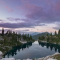 Sunset in the Mount Baker-Snoqualmie National Forest.- Cyclone Lake