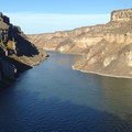Westward view down the Snake River.- Shoshone Falls Park