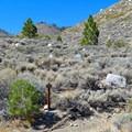 Trailhead for Big Pine Creek North Fork Trail.- First Falls Day Hike