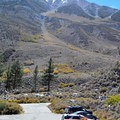 Parking lot for Big Pine Creek North Fork Trail.- First Falls Day Hike