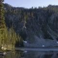 Marten Lake in late July.- Marten + Kelly Lake, Bench Creek Divide