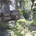Trail sign at the junction just before Marten Lake.- Marten + Kelly Lake, Bench Creek Divide