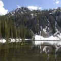 Marten Lake in early July.- Marten + Kelly Lake, Bench Creek Divide