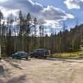 Stanley Lake Creek and Elk Mountain Trailhead.- Stanley Lake Creek + Lady Face Falls