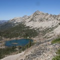 Lake 8,861 from the east Sand Mountain Divide.- Edith Lake and Sand Mountain Divide