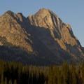 Horstman Peak towers above Fishook Creek.- Fishhook Creek