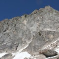 The granite wall above Goat Lake may hold some technical rock climbs.- Goat Lake via the Alpine Way Trail