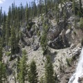 Access to Bridal Veil Falls is not recommeded. The terrain is steep, loose, and dangerous. Additionally, it is difficult to get a worthy vantage of the waterfall.- Stanley Lake Creek + Bridal Veil Falls