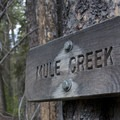 "Mule Creek sign- Smiley Creek to Big Smoky ""Loop"""