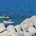 Rent kayaks and enjoy the lakeshore.- Sand Harbor State Park