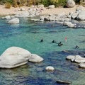 Scuba lessons in Sand Harbor State Park.- Sand Harbor State Park
