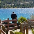 There are many lookouts along the trail.- Sand Harbor State Park