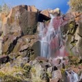 A waterfall along the Tamarak Peak Loop.- Tamarack Peak Loop