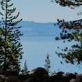 Lake Tahoe views from the Tamarak Peak Loop.- Tamarack Peak Loop