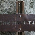 John Muir Trail sign.- Half Dome Hike via John Muir Trail