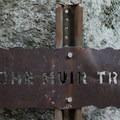 John Muir Trail sign.- Half Dome Hike via John Muir Trail